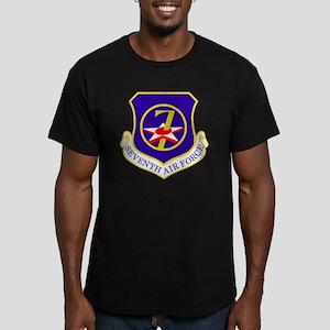 USAF-7th-AF-Shield Men's Fitted T-Shirt (dark)