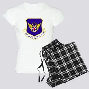 USAF-8th-AF-Shield-Bonnie Women's Light Pajamas