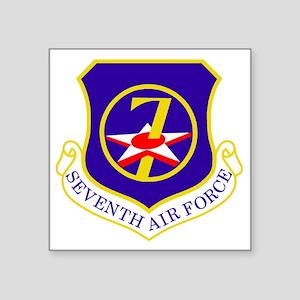 "USAF-7th-AF-Shield Square Sticker 3"" x 3"""