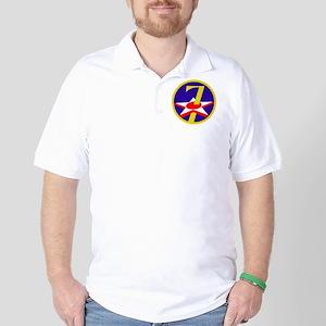 USAF-7th-AF-Patch Golf Shirt