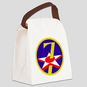 USAF-7th-AF-Patch Canvas Lunch Bag