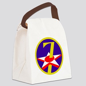 USAF-7th-AF-Patch Canvas Lunch Bag