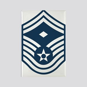 USAF-First-SMSgt-Blue Rectangle Magnet