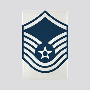 USAF-MSgt-Blue Rectangle Magnet