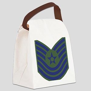USAF-MSgt-Old-Green Canvas Lunch Bag