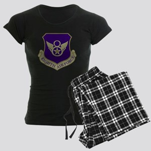 USAF-8th-AF-Shield-Subdued-B Women's Dark Pajamas