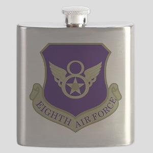 USAF-8th-AF-Shield-Subdued-Blue Flask