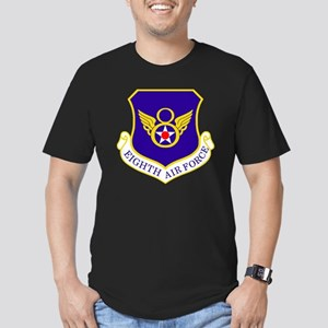 USAF-8th-AF-Shield-Bon Men's Fitted T-Shirt (dark)