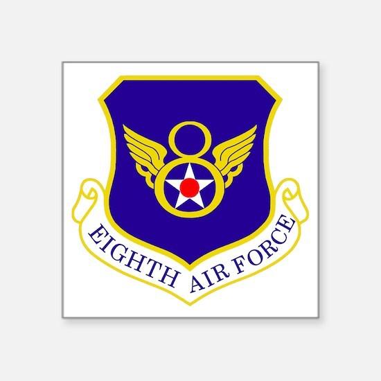 """USAF-8th-AF-Shield-Bonnie Square Sticker 3"""" x 3"""""""