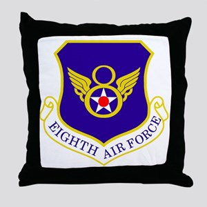 USAF-8th-AF-Shield-Bonnie Throw Pillow