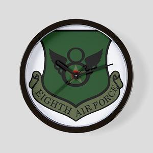 USAF-8th-AF-Shield-Subdued-Green Wall Clock