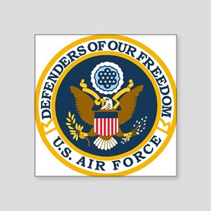 "USAF-Defenders-Blue-White-G Square Sticker 3"" x 3"""