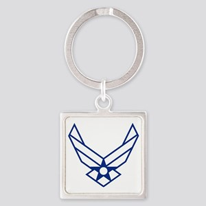 USAF-Symbol-White-On-Blue Square Keychain