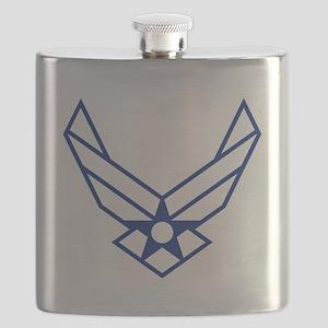USAF-Symbol-White-On-Blue Flask
