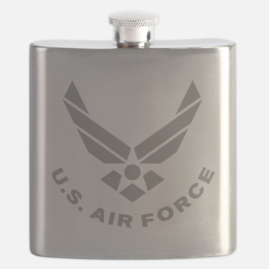 USAF-Symbol-Gray-With-Curved-Text Flask
