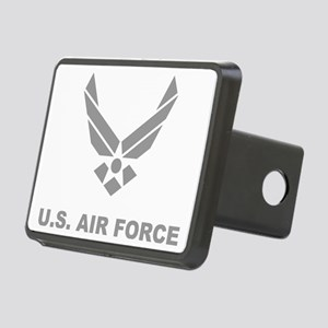 USAF-Symbol-Gray-With-Text Rectangular Hitch Cover