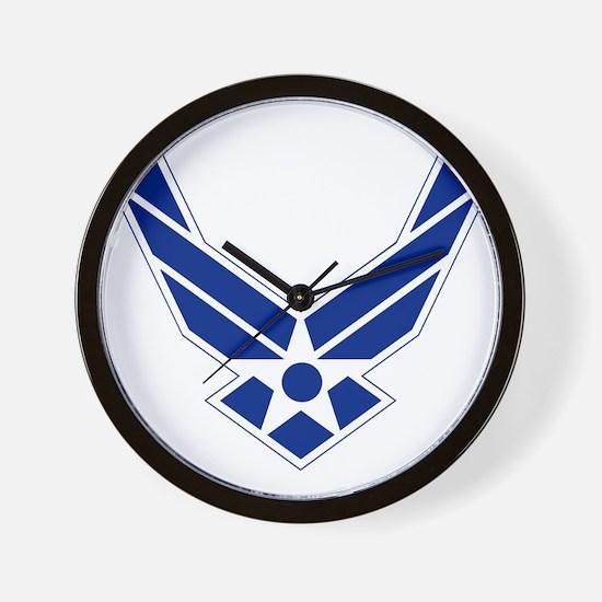 USAF-Symbol-Blue-On-White Wall Clock