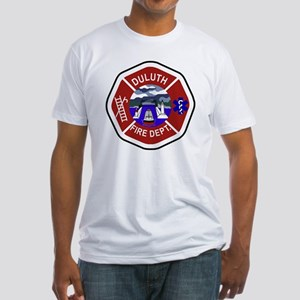 2-Duluth-Fire-Dept Fitted T-Shirt