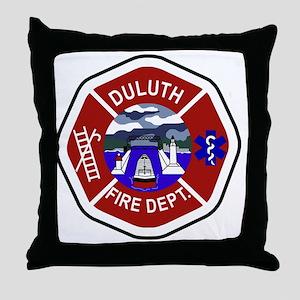 2-Duluth-Fire-Dept Throw Pillow