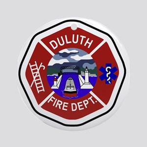 2-Duluth-Fire-Dept Round Ornament