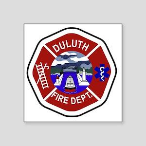 "2-Duluth-Fire-Dept Square Sticker 3"" x 3"""