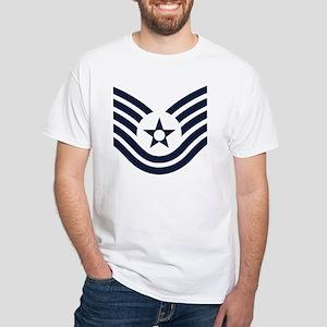 USAF-TSgt-Inverse White T-Shirt