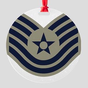2-USAF-TSgt-ABU Round Ornament