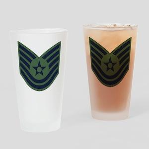 USAF-TSgt-Woodland Drinking Glass