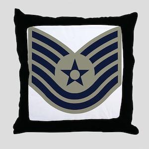 USAF-TSgt-ABU-Four-Inches Throw Pillow