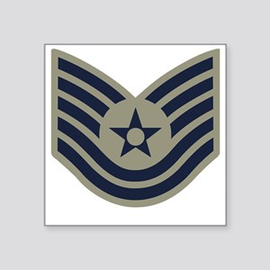 "USAF-TSgt-ABU-Four-Inches Square Sticker 3"" x 3"""