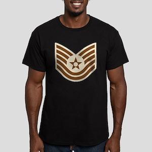 2-USAF-TSgt-Desert Men's Fitted T-Shirt (dark)