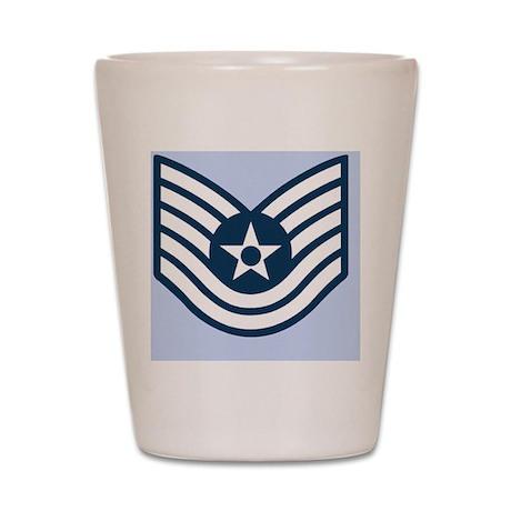 USAF-TSgt-Journal-Blue Shot Glass