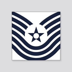 "USAF-MSgt-Old-Inverse Square Sticker 3"" x 3"""