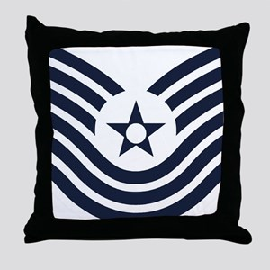 USAF-MSgt-Old-Inverse Throw Pillow