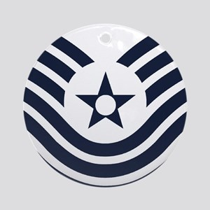 USAF-MSgt-Old-Inverse Round Ornament