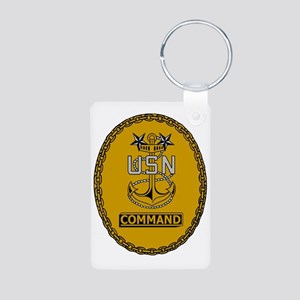 Navy-Cmd-MCPO-Insignia Aluminum Photo Keychain