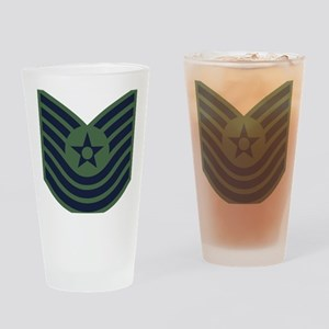 USAF-MSgt-Old-Green Drinking Glass
