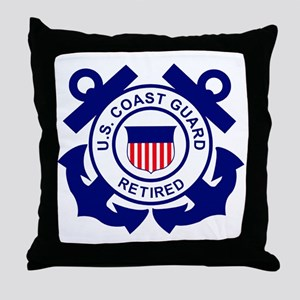 USCG-Retired-Bonnie Throw Pillow