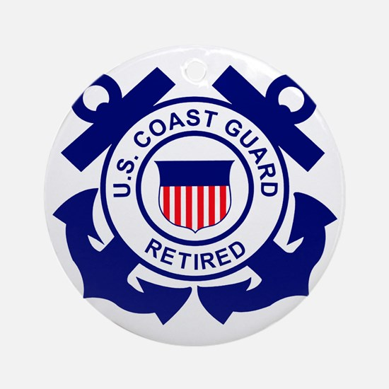 USCG-Retired-Bonnie Round Ornament