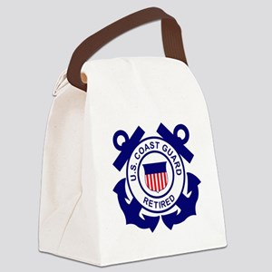 USCG-Retired-Bonnie Canvas Lunch Bag