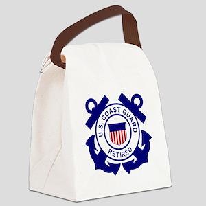 USCG-Retired-Bonnie Canvas Lunch Bag