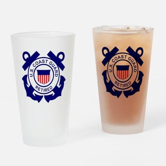 USCG-Retired-Bonnie Drinking Glass