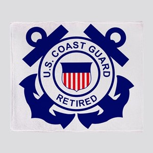 USCG-Retired-Bonnie Throw Blanket