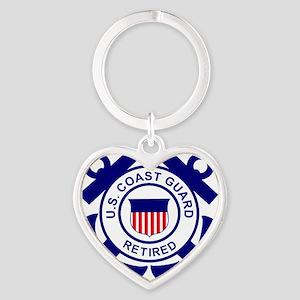 USCG-Retired-Bonnie Heart Keychain