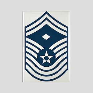 USAF-First-CMSgt-Old-Blue- Rectangle Magnet