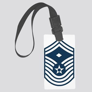 USAF-First-CMSgt-Old-Blue- Large Luggage Tag