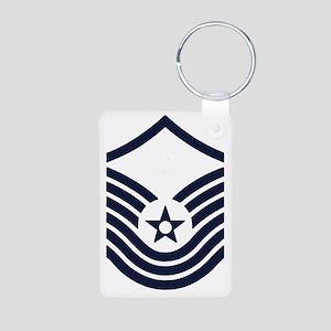 USAF-SMSgt-Old-Inverse- Aluminum Photo Keychain