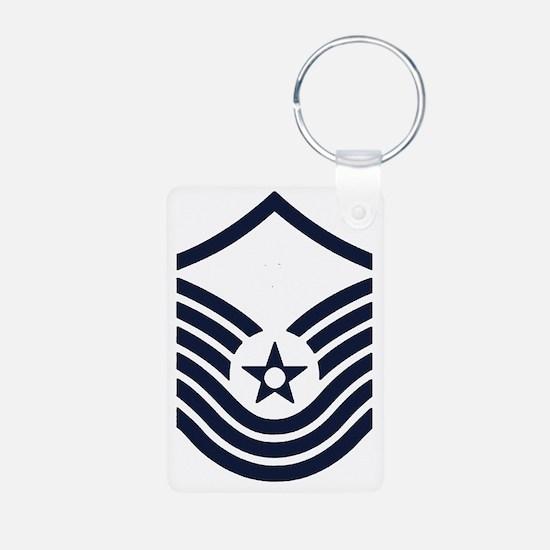 USAF-SMSgt-Old-Inverse-PNG Keychains