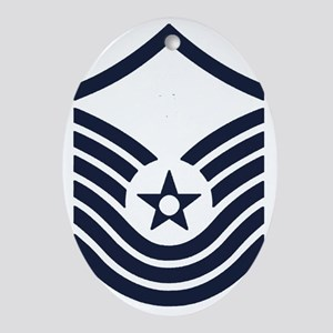 USAF-SMSgt-Old-Inverse- Oval Ornament
