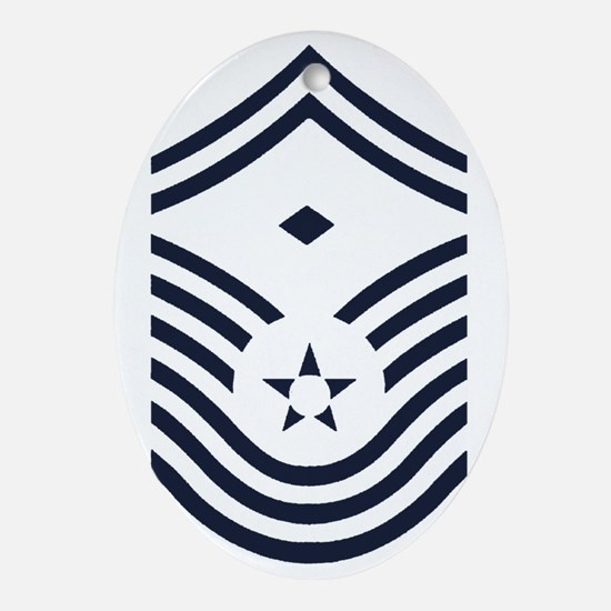 USAF-First-CMSgt-Old-Inverse-PNG Oval Ornament